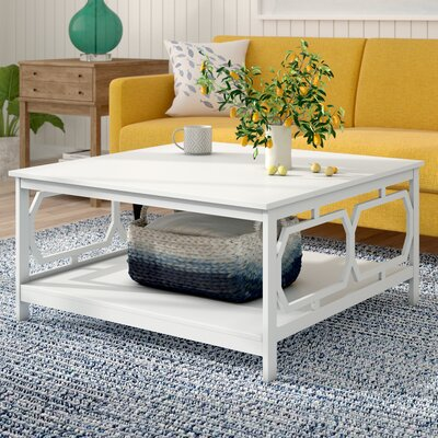Country Walk Coffee Table Color: White