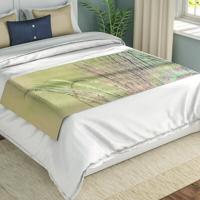 Beth Engel Sun Kissed Peacock Feather Bed Runner