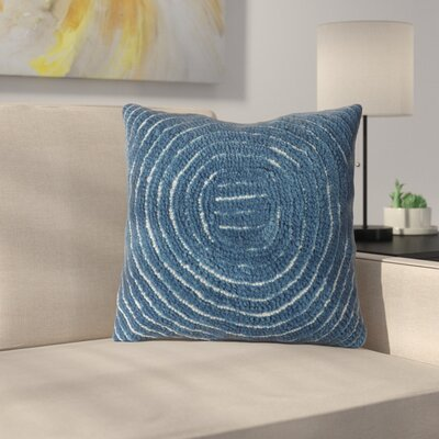 Mack Geometric Circle Throw Pillow Color: Navy