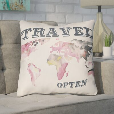 Bainum Travel Throw Pillow Size: 20 H x 20 W x 4 D