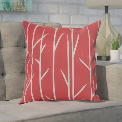 Throw Pillow Size: 16 H x 16 W, Color: Coral