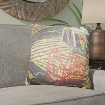 Whitlam Cotton Throw Pillow Color: Gray