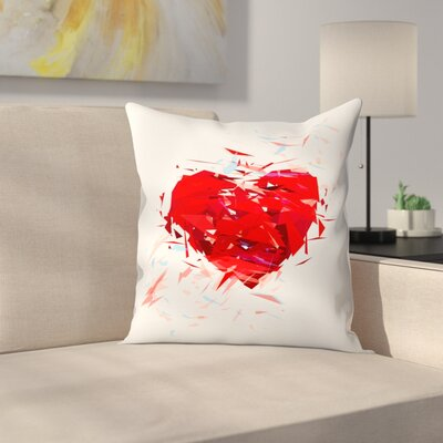 Fragile Heart Throw Pillow Size: 18 x 18