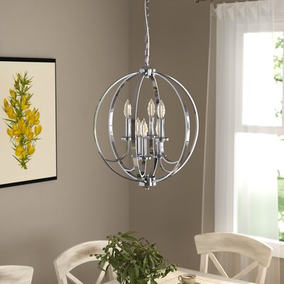 Camelon 6-Light Candle-Style Chandelier Finish: Polished Chrome, Size: 23.5 H x 19.5 W x  19.5 D