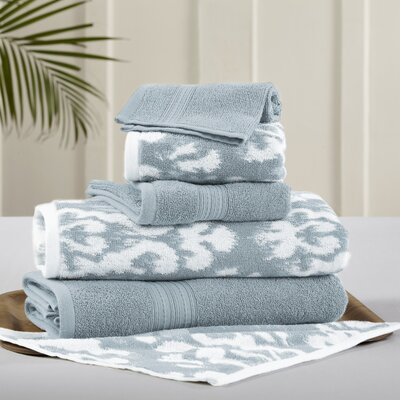6 Piece Towel Set Color: Sterling Blue