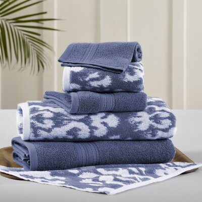 6 Piece Towel Set Color: Indigo