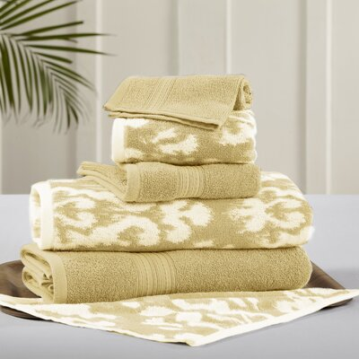 6 Piece Towel Set Color: Gold