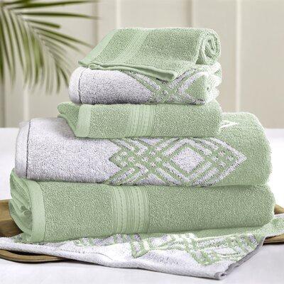 6 Piece Towel Set Color: Sage