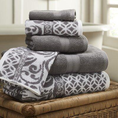 6 Piece Towel Set Color: Platinum
