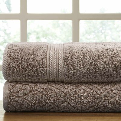 2 Piece Towel Set Color: Mocha