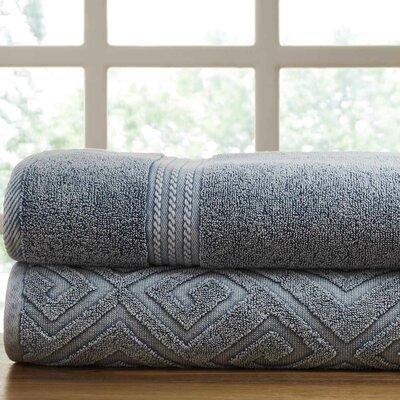 Lerna 2 Piece Towel Set Color: Medium Blue