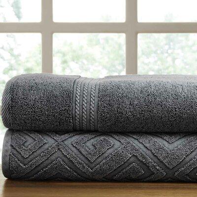 Lerna 2 Piece Towel Set Color: Charcoal