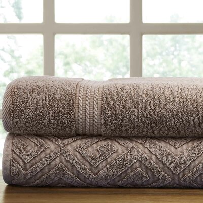 Lerna 2 Piece Towel Set Color: Mocha