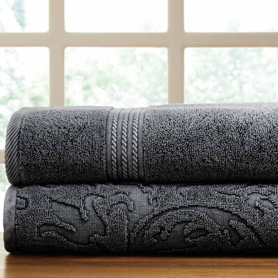 2 Piece Towel Set Color: Charcoal