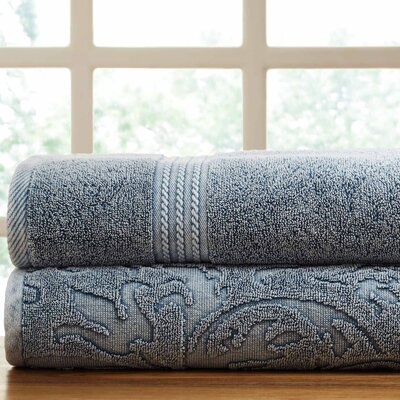 2 Piece Towel Set Color: Medium Blue