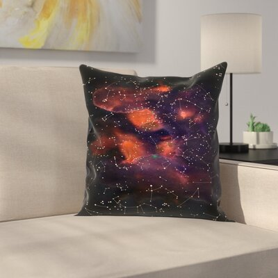 Florent Bodart Le Cosmos Throw Pillow Size: 16 x 16
