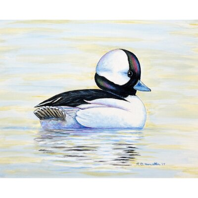 Isaacson Bufflehead Duck Doormat Mat Size: Rectangle 2.5 x 4.1