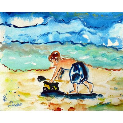 Henault Boy and Toy Doormat Mat Size: Rectangle 1.5 x 2.1