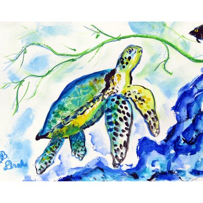 Henault Sea Turtle Doormat Mat Size: Rectangle 2.5 x 4.1