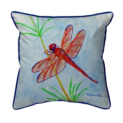 Ferro Red Dragonfly Indoor/Outdoor Throw Pillow Size: Small