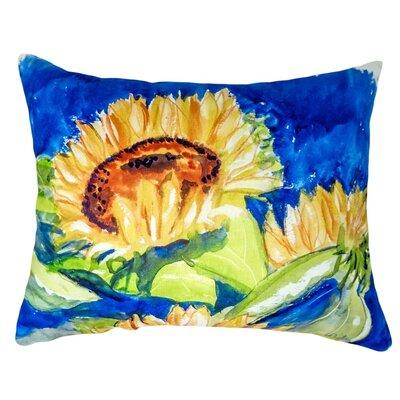 Fessler Gold Rising Sunflower Indoor/Outdoor Lumbar Pillow