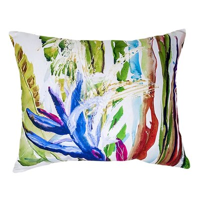 Bloomingdale Abstract Indoor/Outdoor Lumbar Pillow