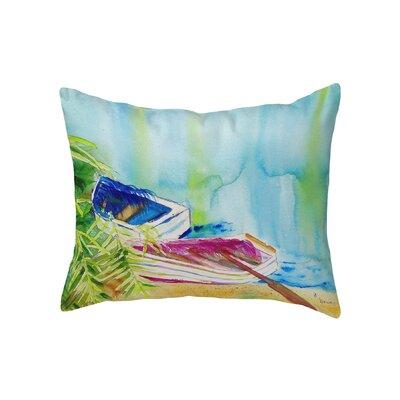 Henegar Watercolor Rowboats Indoor/Outdoor Lumbar Pillow