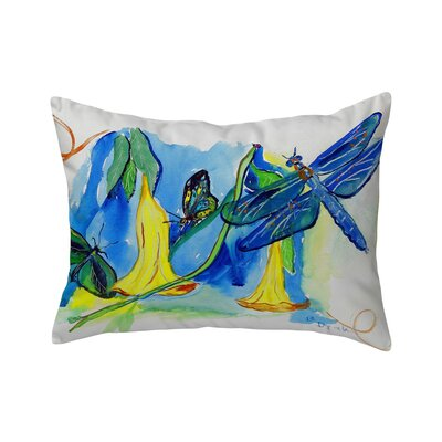 Isola Yellow Bells & Dragonfly Indoor/Outdoor Lumbar Pillow