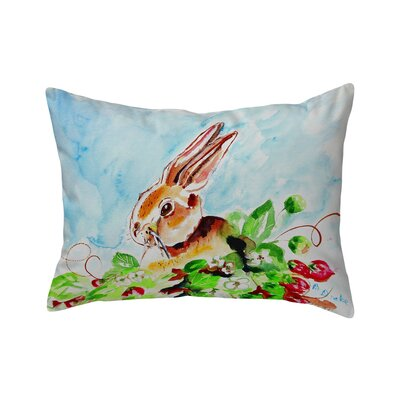 Fessler Rabbit Left Indoor/Outdoor Lumbar Pillow