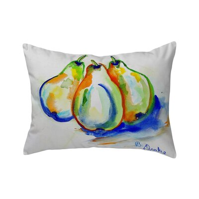 Isola Three Pears No Indoor/Outdoor Lumbar Pillow