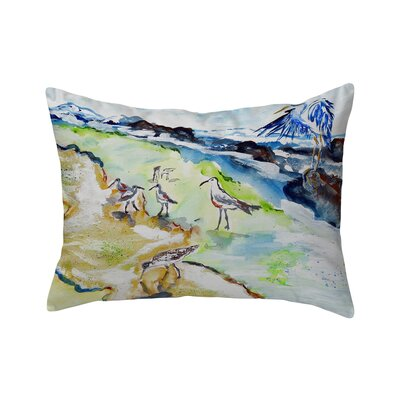 Henegar Sandpipers & Heron Indoor/Outdoor Lumbar Pillow