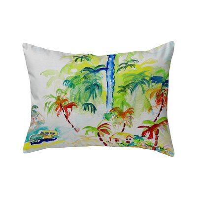 Bluffton Colorful Palms Indoor/Outdoor Lumbar Pillow