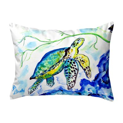Henegar Yellow Sea Turtle Indoor/Outdoor Lumbar Pillow