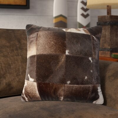 Crescent City Leather Throw Pillow Color: Chocolate