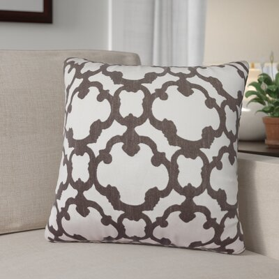 Rockdale Tile Throw Pillow Color: Pewter