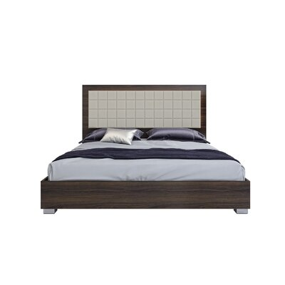 Gower Upholstered Platform Bed Color: Shadow Walnut, Size: Queen