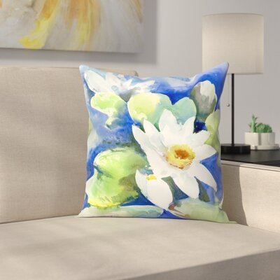 Suren Nersisyan Lotuses 2 Throw Pillow Size: 20 x 20