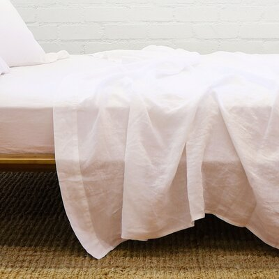 Chaffins Linen Flat Sheet Size: California King