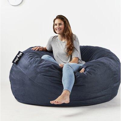 Big Joe Fuf Bean Bag Chair Upholstery: Cobalt