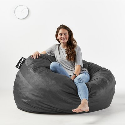 Big Joe Fuf Bean Bag Chair Upholstery: Black