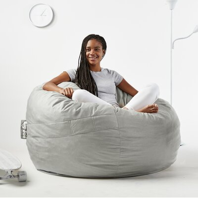 Big Joe Fuf Bean Bag Chair Upholstery: Fog