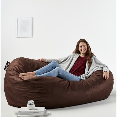 Big Joe Media Bean Bag Sofa Upholstery: Cocoa