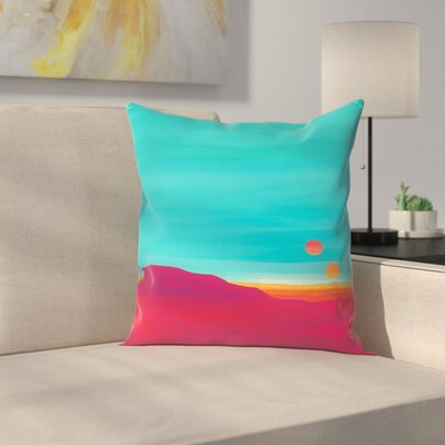 Joe Van Wetering Far Away Throw Pillow Size: 14 x 14