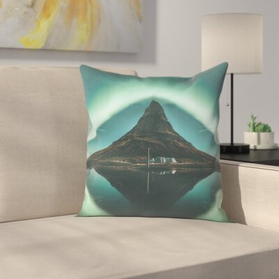 Luke Gram Kirkjufell Iceland Throw Pillow Size: 14 x 14