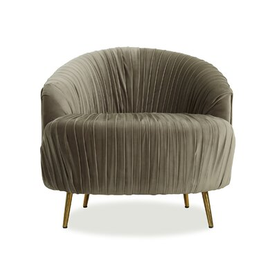Ronna Ruched Barrel Chair Upholstery: Mink Gray