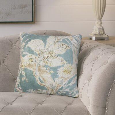 Ilana Floral Throw Pillow Cover Color: Blue