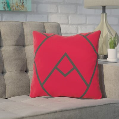 Leonila Polyester Throw Pillow Size: 16 H x 16 W, Color: Red