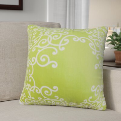 Khiry Floral Cotton Throw Pillow Color: Leaf, Size: 24 H x 24 W