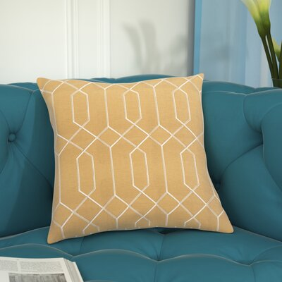 Sheller 100% Linen Throw Pillow Cover Size: 18 H x 18 W x 0.25 D, Color: YellowNeutral