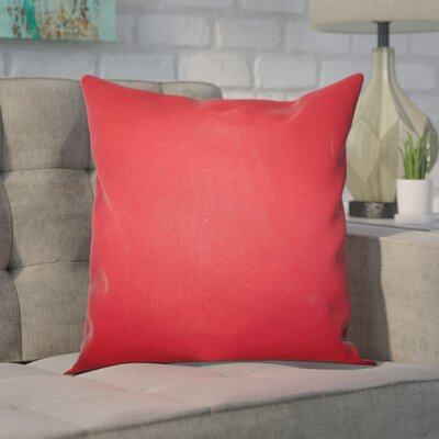 Portsmouth 100% Cotton Throw Pillow Color: Lipstick Red, Size: 22 x 22